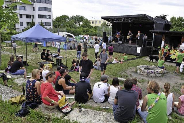Beim Festival