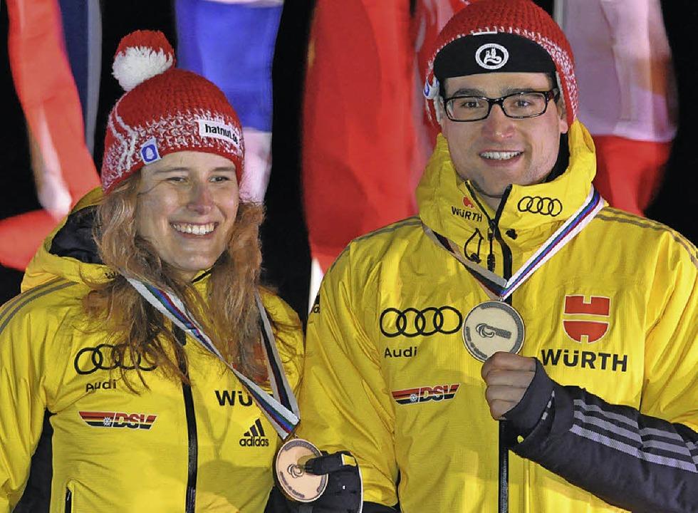Vivian Hösch und Florian SchillingerBehinderten-WM Cable, USA, 2015    Foto: Sportograf