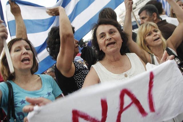 In Griechenland liegen die Nerven blank