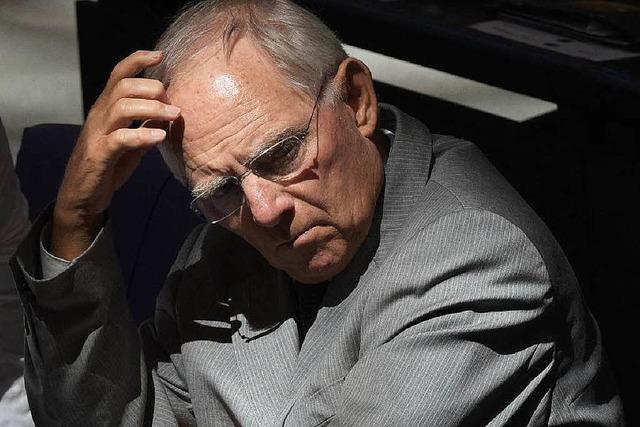 Schäuble über Griechenland: