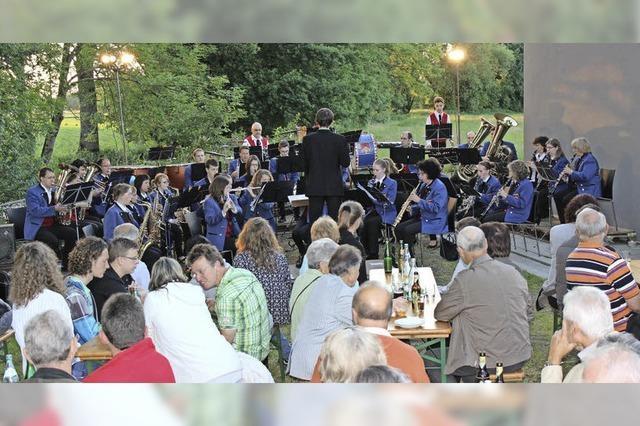 Open-Air-Konzert des Musikvereins Kollmarsreute