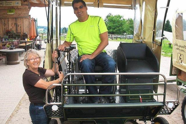 Im Rollstuhl auf dem Kutschbock: Ausbildung in Murg-Hänner