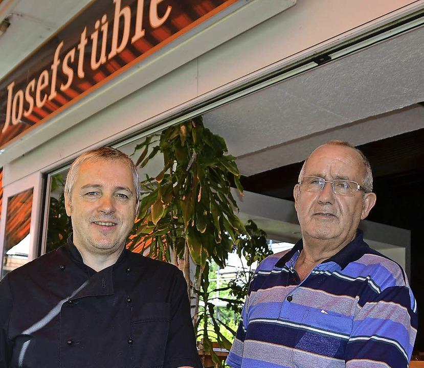 Wirt Mike Steimle und Josef Gulli, der Gründer des Josefstüble   | Foto: Jochen Fillisch