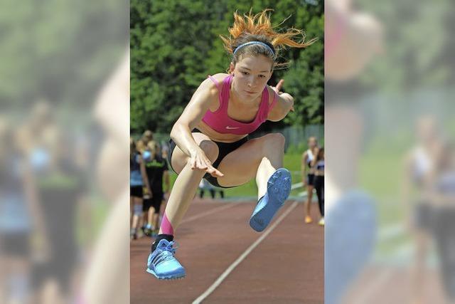 Leichtathleten im Teamduell