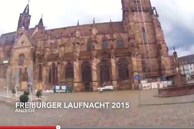 Das ist die Strecke der Freiburger LaufNacht 2015