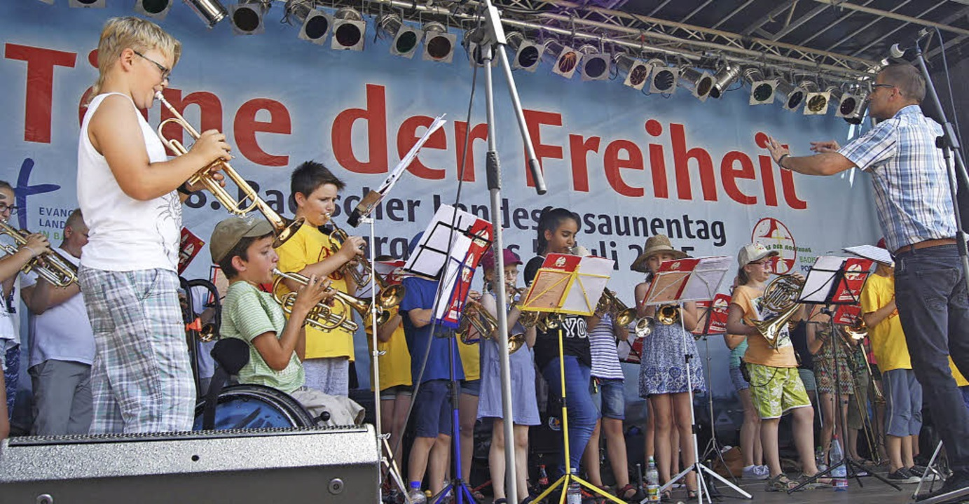 Konzert der Ortenauer Jungbläser unter... Sonne anderweitig schützen (rechts).   | Foto: C. Bruhier