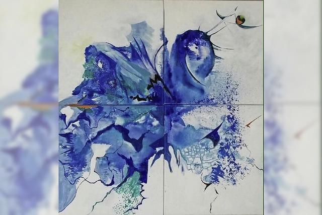 Orange küsst Blau: Werke von Renée Hansen