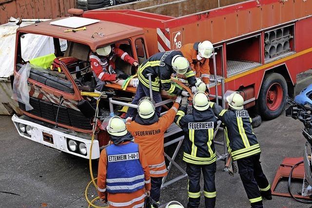 Rettung aus LKW-Kabine