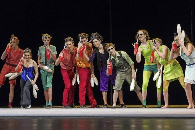 Der Circus Harlekin tritt wieder auf der Bühne am Münster auf