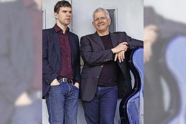 Juris Teichmanis (Cello) und Hansjacob Staemmler (Klavier) in der Freiburger Friedenskirche