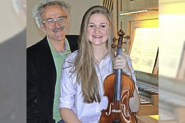 Pauline Gnann (Violine) und Gerhard Gnann (Orgel) konzertieren in Grunern