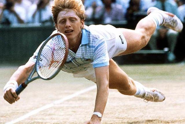 Boris Becker gewinnt 1985 als erster Deutscher Wimbledon