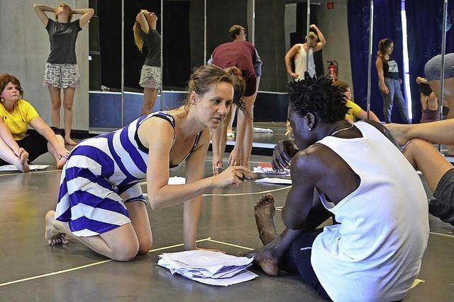 Die Flüchtlinge machen Theater
