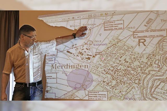Suche nach Standort für neuen Funkmast in Merdingen geht weiter