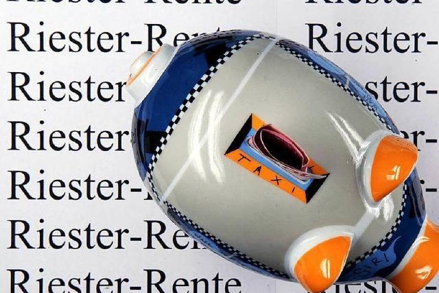Riester-Rente schafft Prämien für Gutverdiener