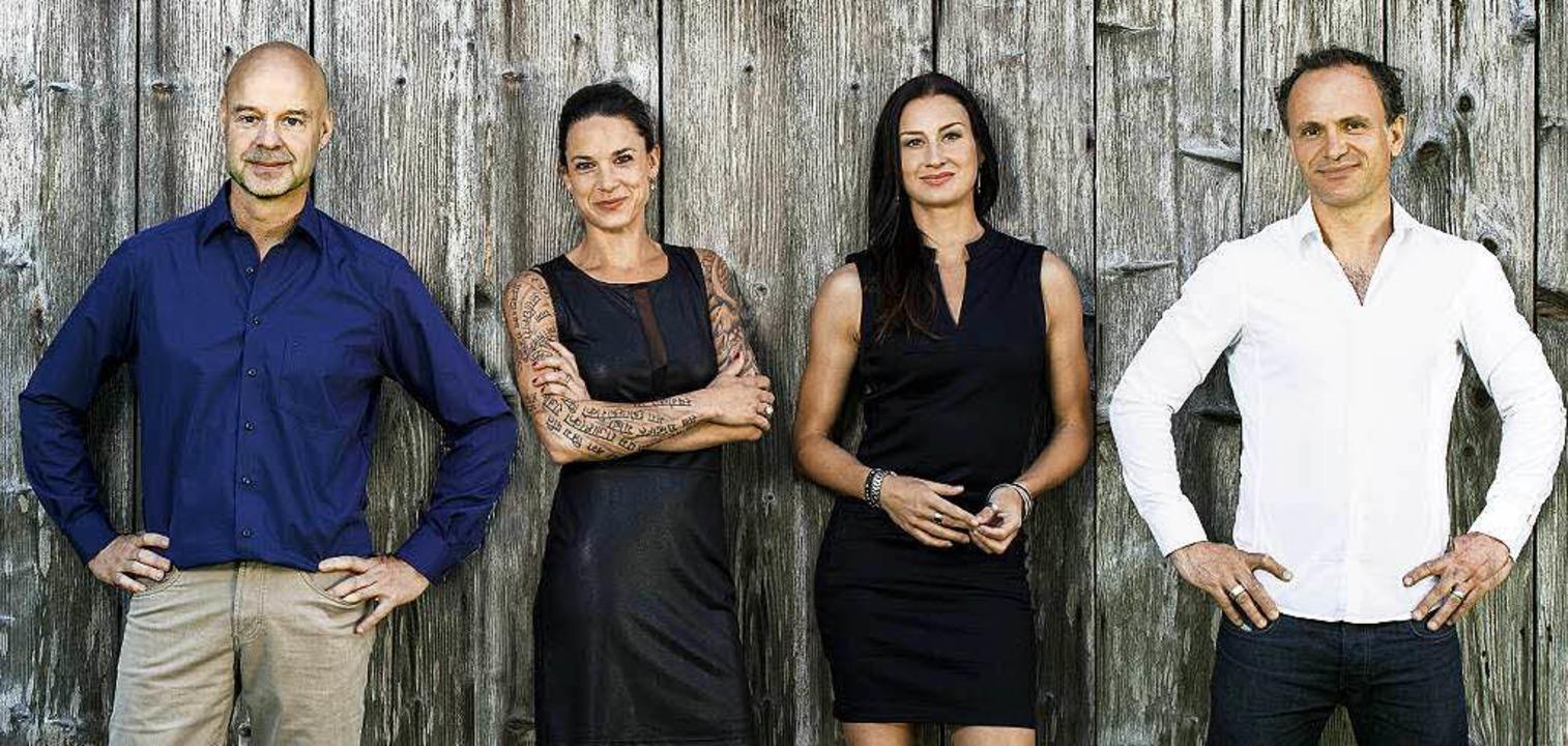 Das Team  (von links): Martin Waltz, G...e, Nadine Gänswein und Mario Gänswein.  | Foto: Privat