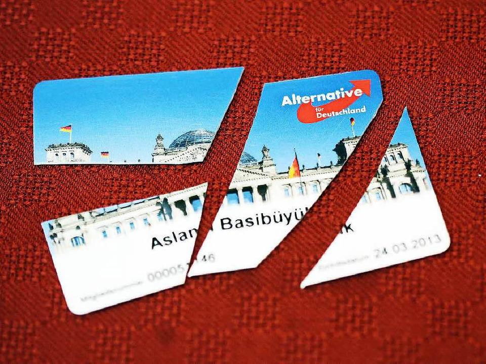 Nach dem Rechtsruck in der AfD ist die Partei für viele Mitglieder Geschichte.    Foto: dpa