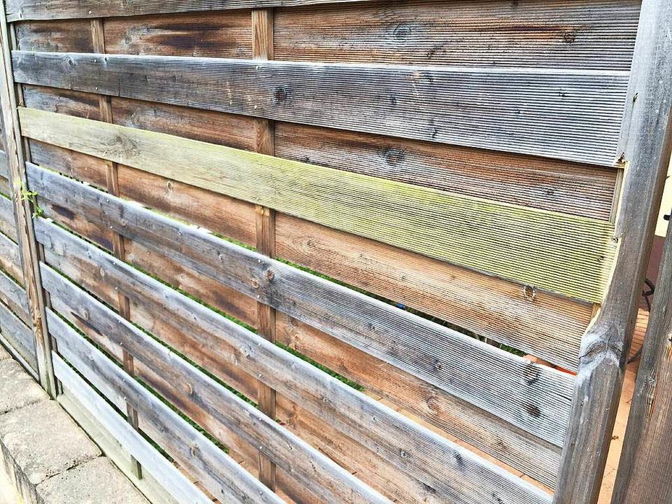 Eine der Latten an diesem Zaun wurde  ... am Mittwoch bereits wieder repariert.