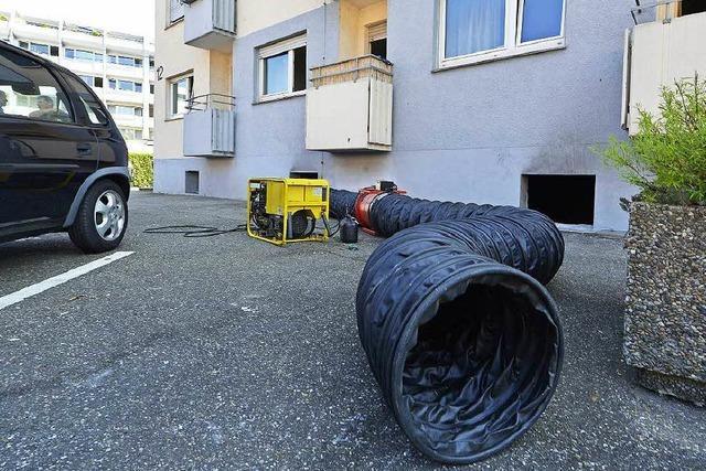 Hochhausbrand in Freiburg: Hilfsaktion für Bewohner