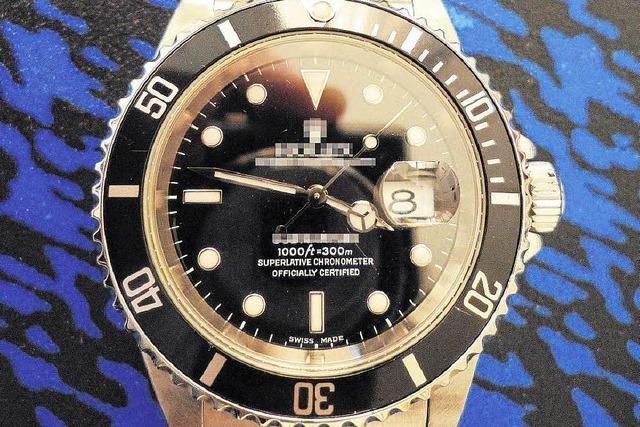 Deutscher schmuggelt Rolex-Uhren in die Schweiz