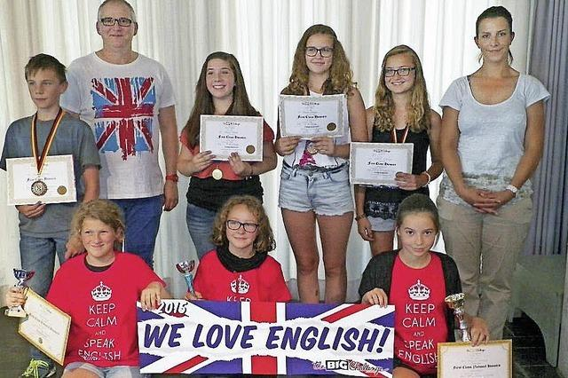 Die englische Sprache ist für sie kein Problem