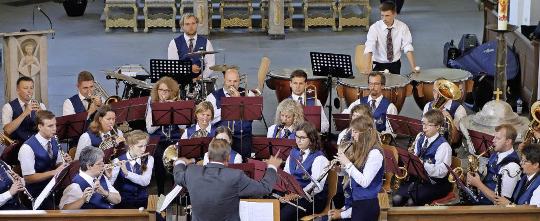 Einen nachhaltigen Eindruck hinterließ...usik Stühlingen beim  Kirchenkonzert.   | Foto: Mahler
