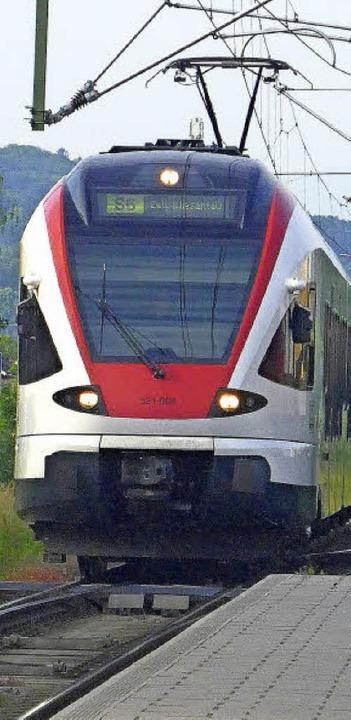 Mit der Regio-S-Bahn ins Kandertal, da... Verkehrsplaner Kossak viel Potenzial.  | Foto: GRAMESPACHER