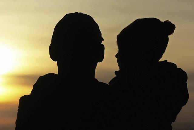 Familienglück mit Schatten