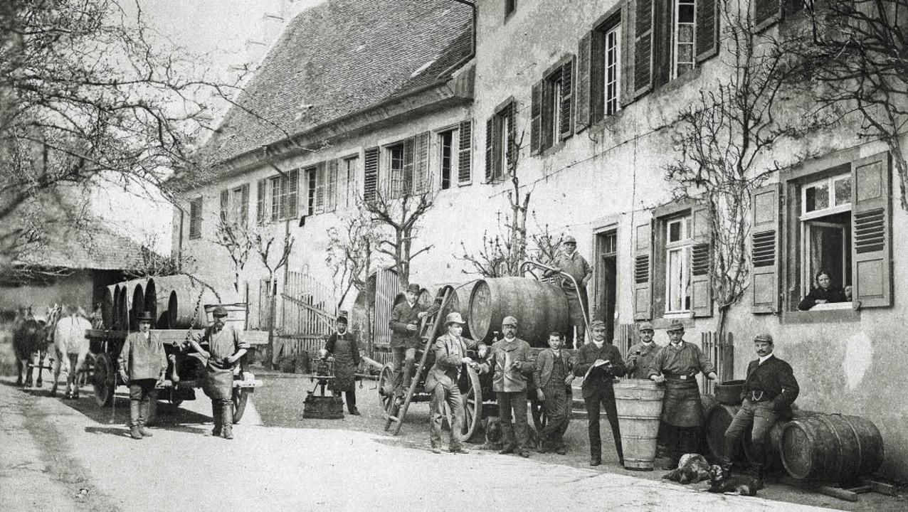Die historische Aufnahme zeigt das  We... des Malteserschlosses untergebracht.   | Foto: Privat/ Volker Münch