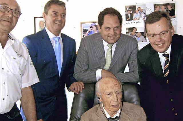 Walter Scheel feierte 96. Geburtstag
