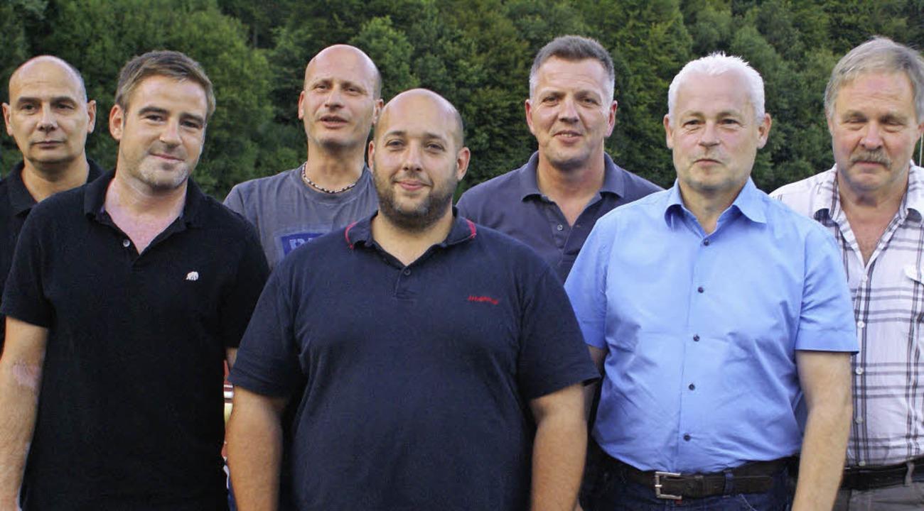 Die neugewählten Vorstandsmitglieder d...k und der Vorsitzende Werner Wunderle   | Foto: Werner Probst