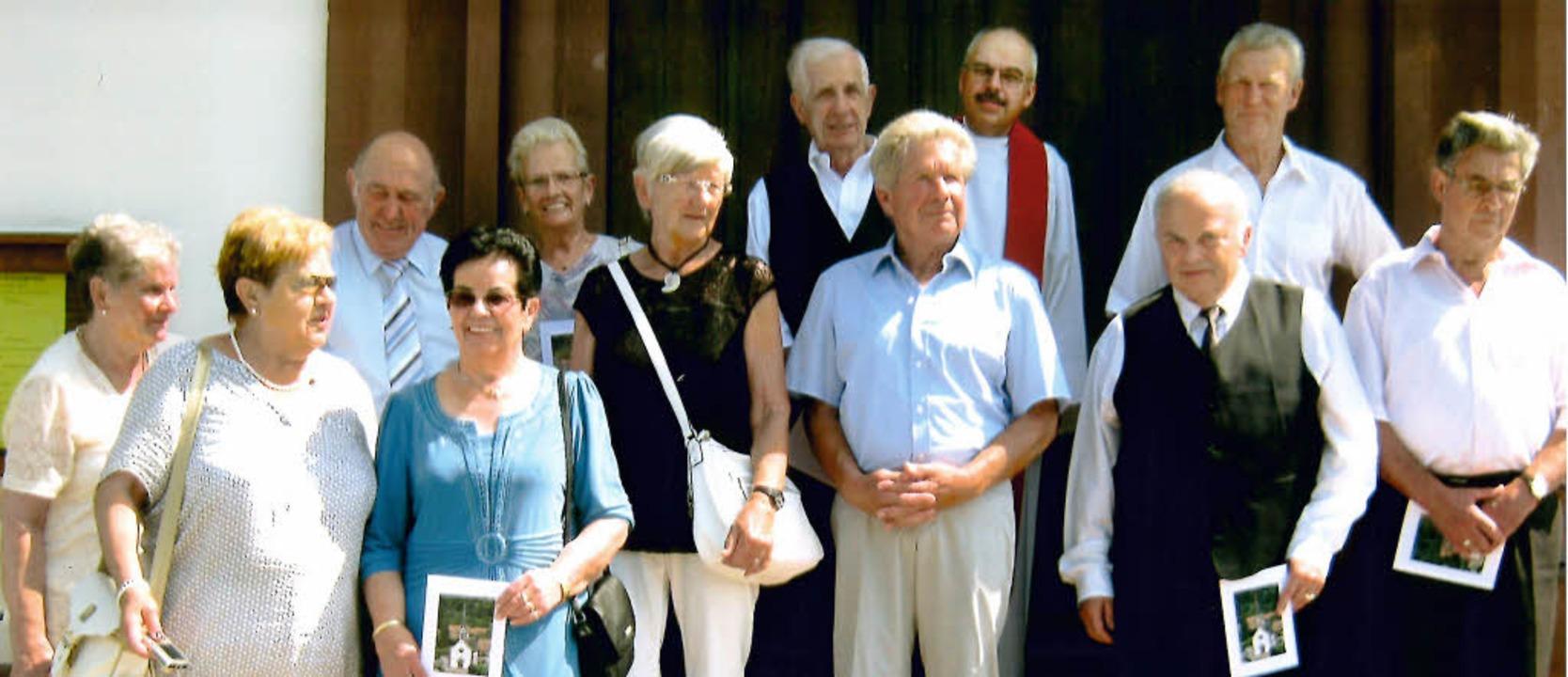 Die diamantenen Konfirmationsjubilare ...r Clemens Ickelheimer und Werner Haug.    Foto: zvg