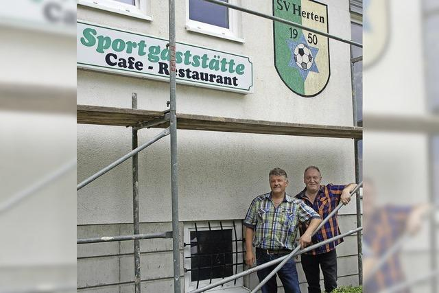 SV Herten gibt Klubheim neuen Anstrich