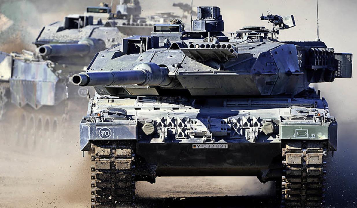 Kampfpanzer Leopard     Foto: dpa