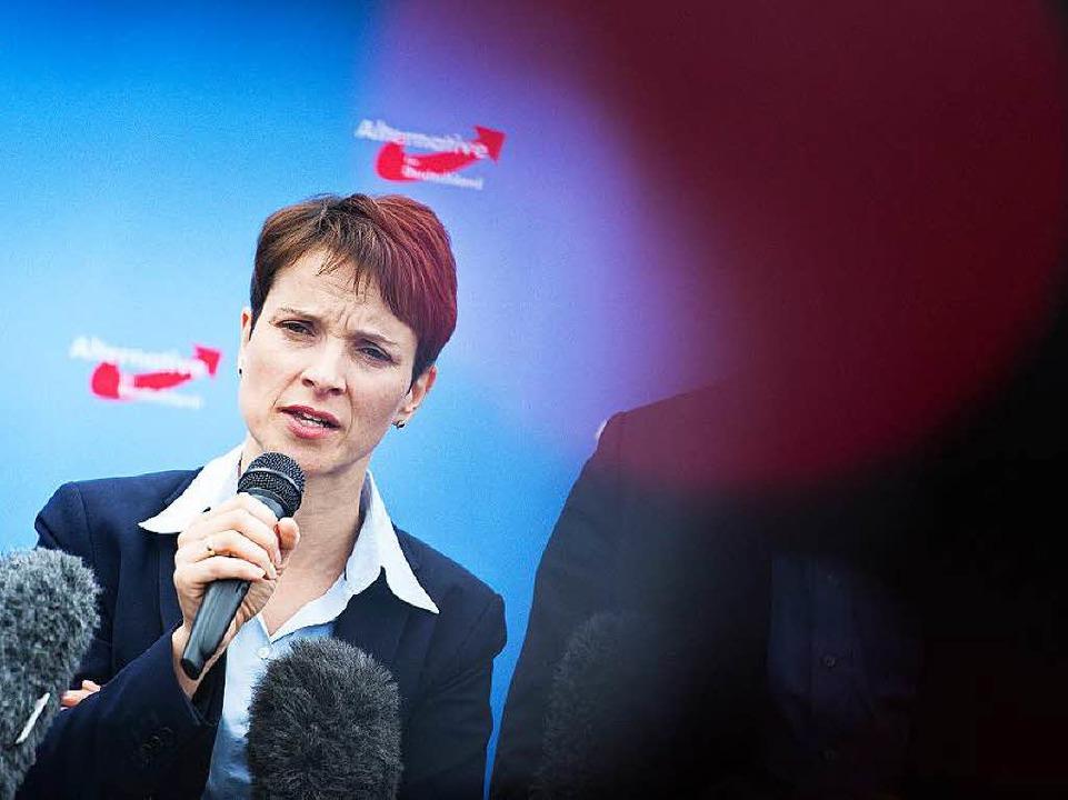 Die neugewählte Vorsitzende der Alternative für Deutschland Frauke Petry    Foto: dpa