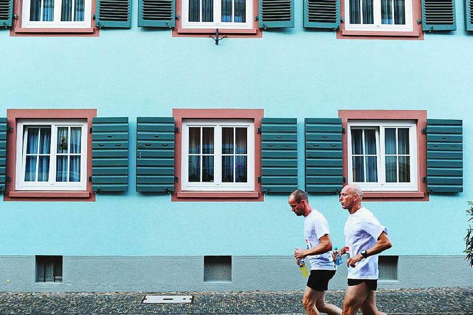 Die Freiburger Laufnacht führte erstmals durch die Altstadt. (Foto: Miroslav Dakov)