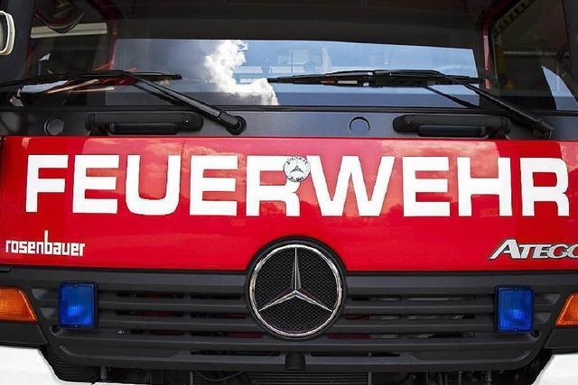 Zwei Verletzte bei Schreinereibrand in Kehl