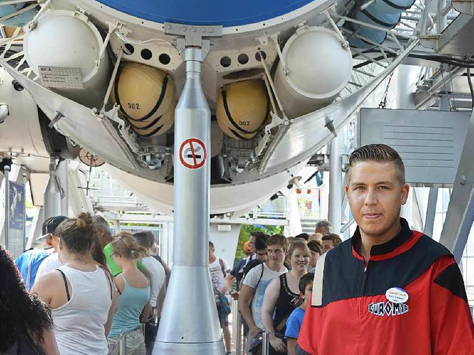 Kevin Branswyk, 25, ist stellvertretender Teamleiter des Euro-Mir.  | Foto: Dominik Bloedner
