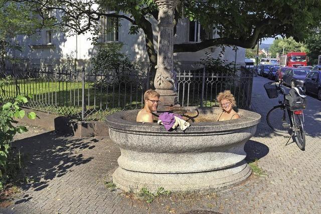 Abkühlung im Brunnen