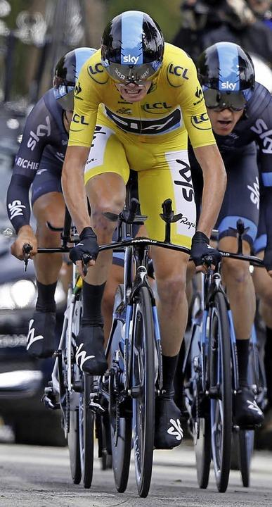 Fährt vorneweg, auch beim Teamzeitfahren: Christopher Froome   | Foto: dpa