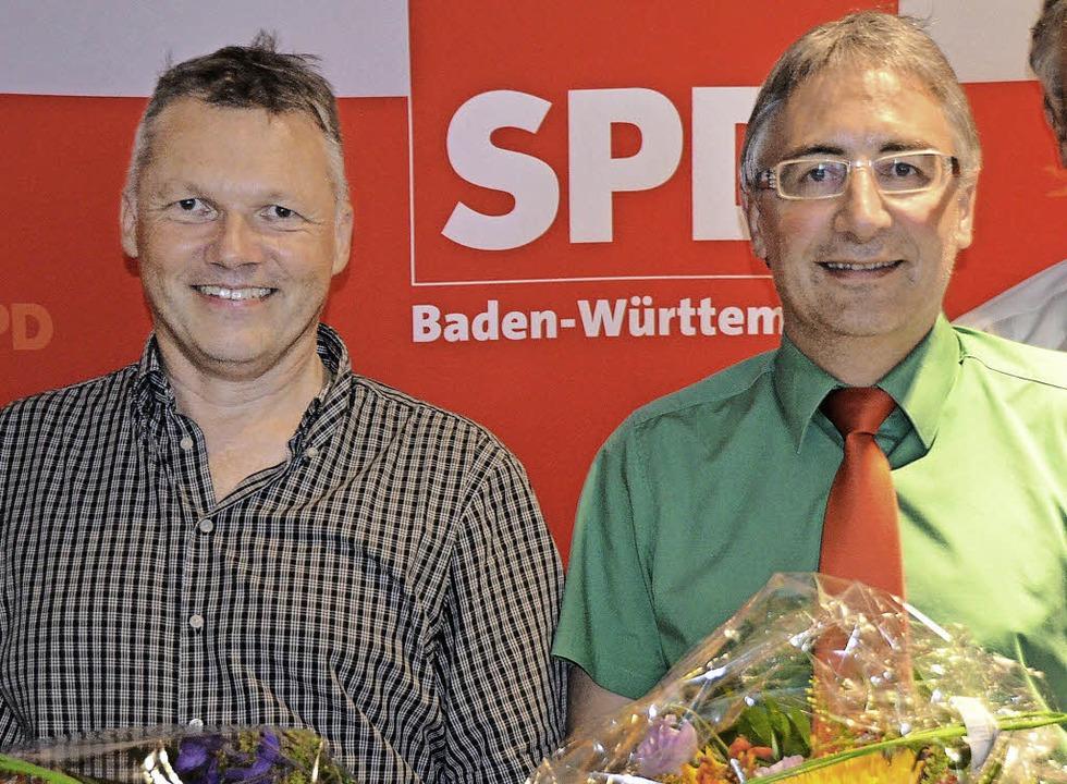 Die SPD tritt im Wahlkreis 46 mit Walt...ner   (links)  und Dieter Köpfler an.   | Foto: Tanja Bury