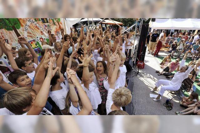 Beim Stadtteilfest Vauban gab's nicht nur Musik und Essen, sondern auch Infos