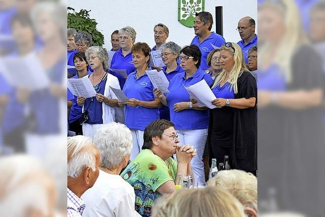 Wochenend'-Sonnenschein mit den Hasler Sängern