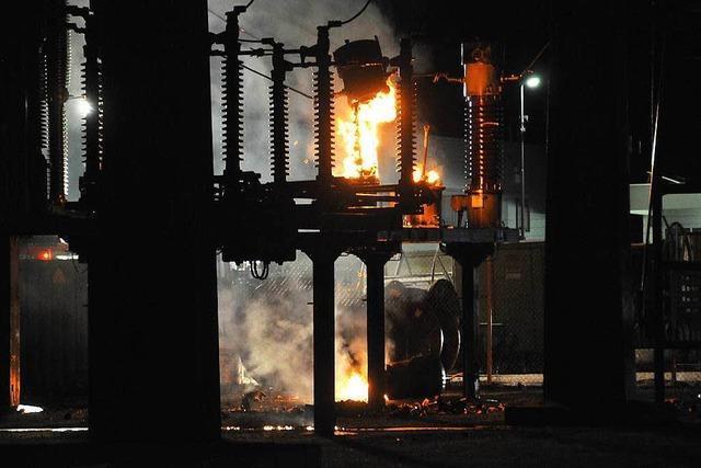 Stromausfall nach Feuer und Explosionen im Offenburger E-Werk