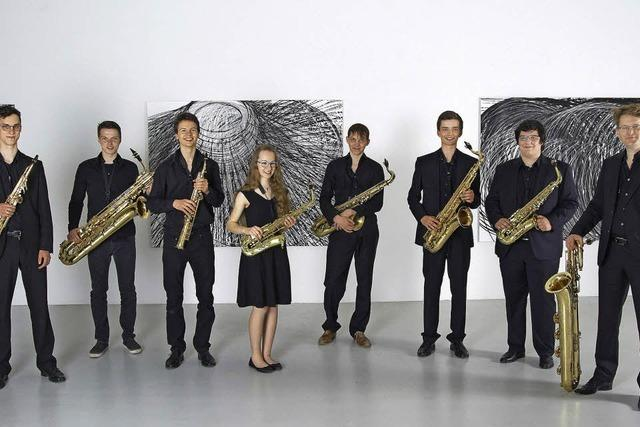 Das Freiburger Saxophonensemble beim Ebneter Kultursommer