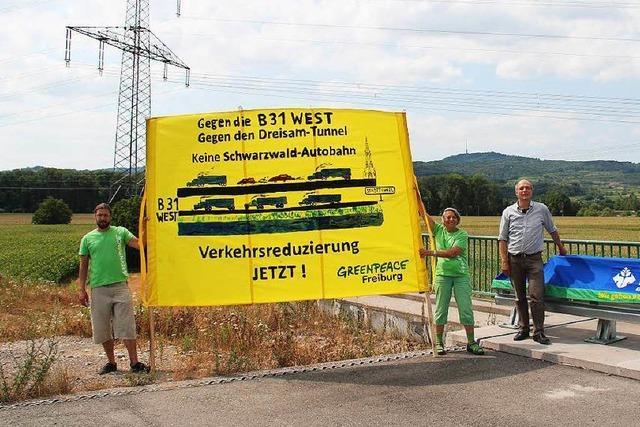 Protest gegen die B 31 West