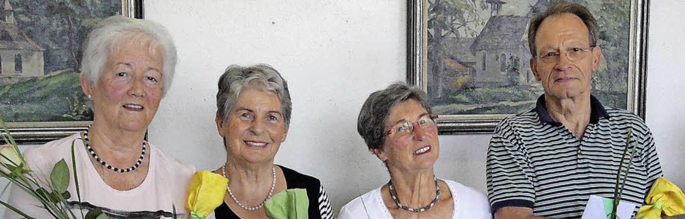 Gehören seit der Gründung des Mittagst...ie Ute und Wolfgang Class (von links)   | Foto: Hansjörg Bader
