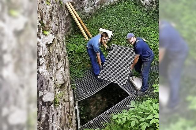 Neues Gitter verhindert Sturz in die Tiefe