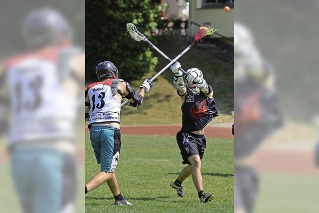 Erstes Lacrosse-Turnier in Freiburg