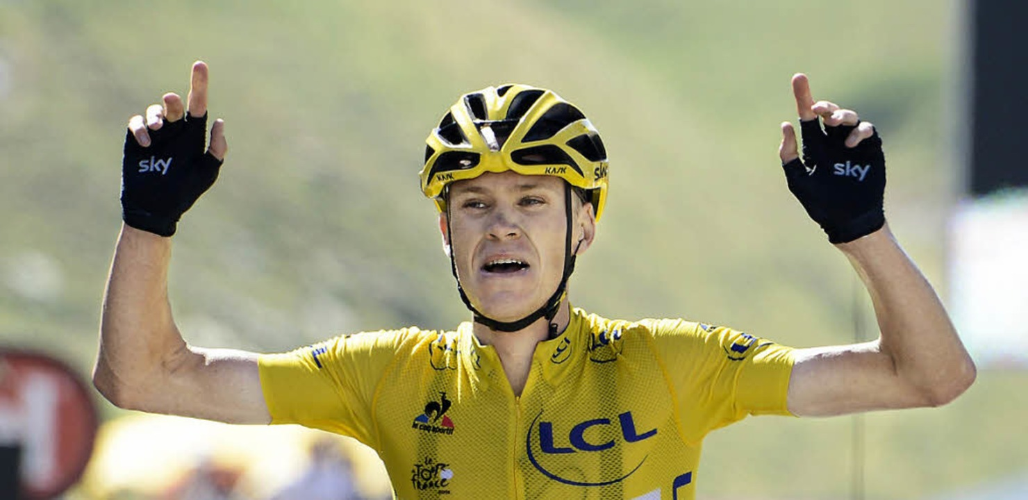 Triumphator am Berg:  Christopher Froome   | Foto: AFP